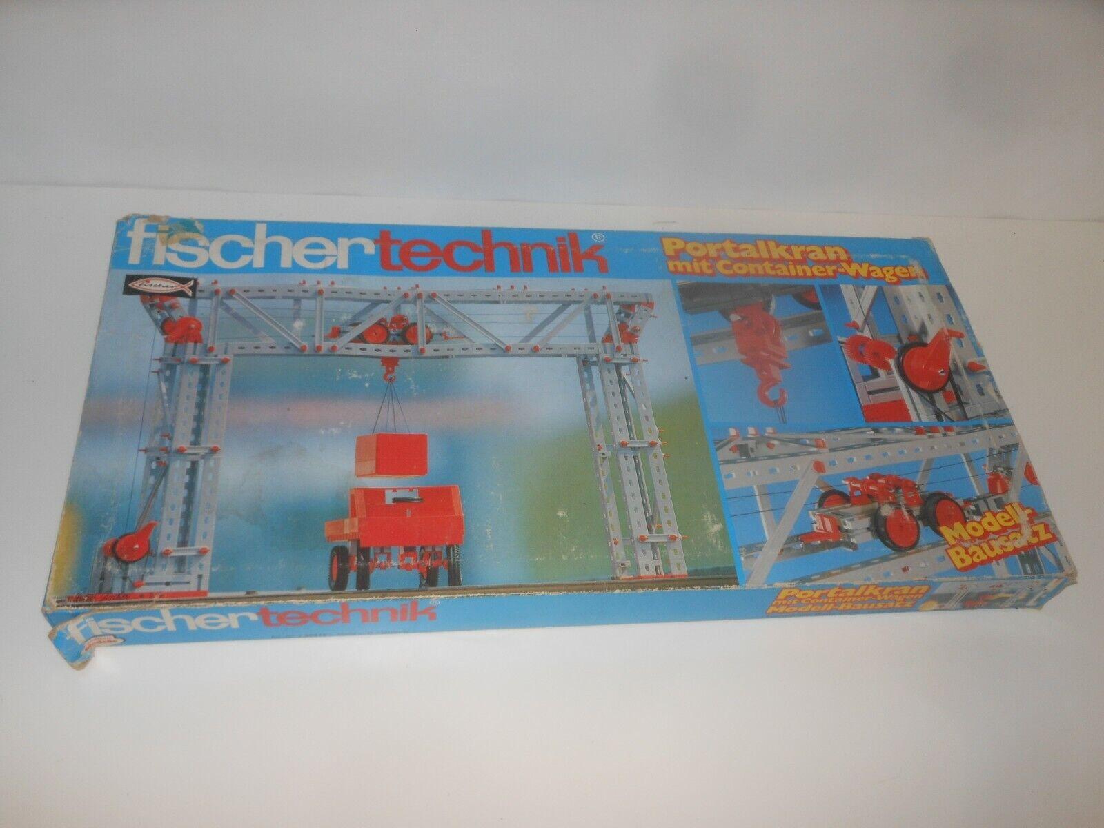 Fischertechnik Boîte de Construction - Portique avec Container Chariot