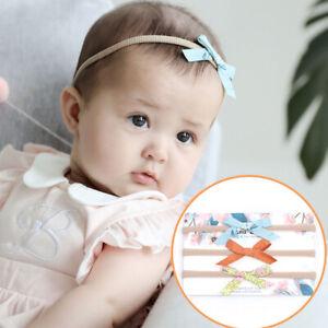 Baby Girl Flower Shape Headband Creative Infants Elastic Jean Cloth Dot Hairband