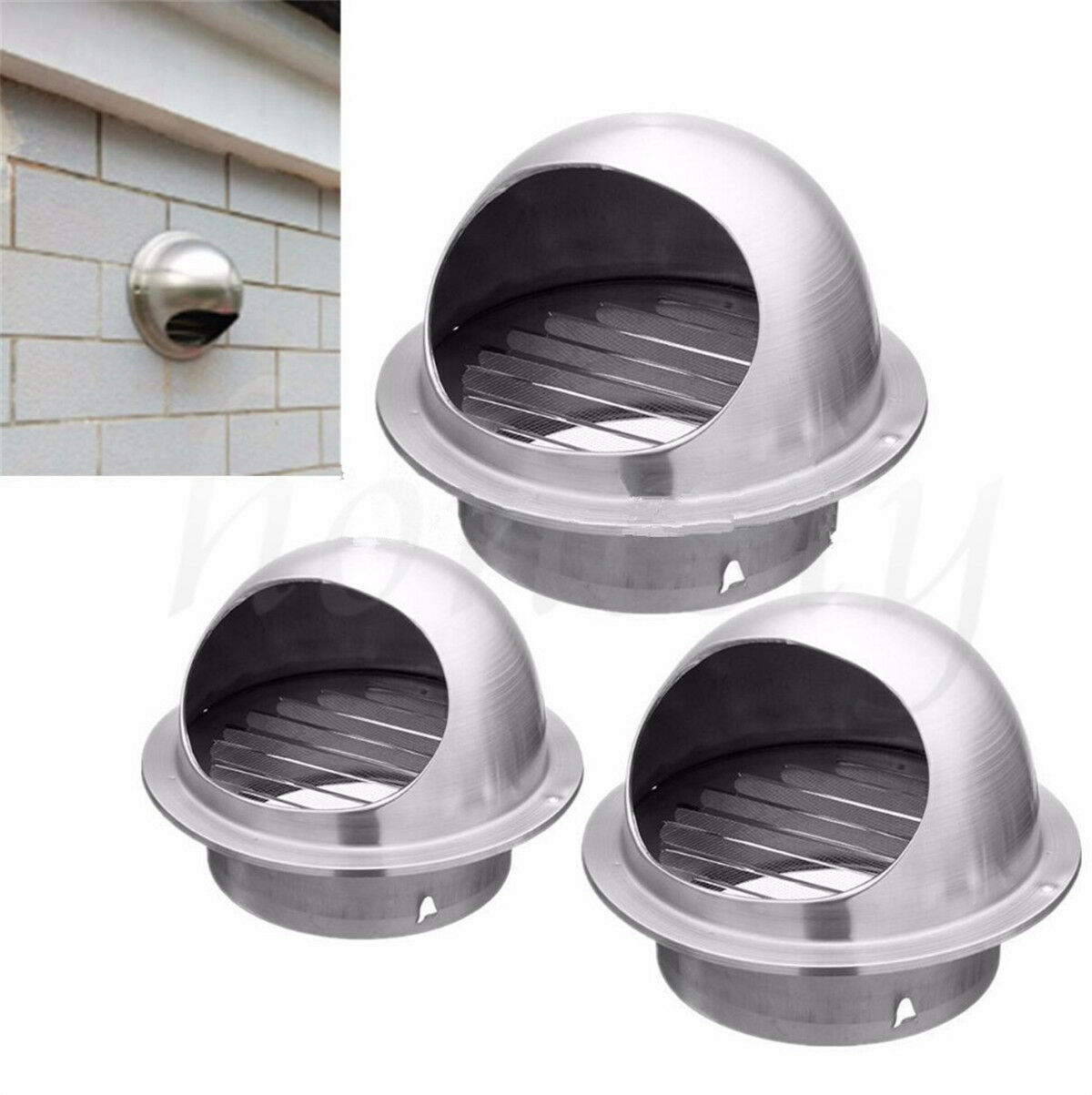 Wall Air Vent Ducting Ventilation Exhaust Grille Cover Outlet Stainless Steel ❤