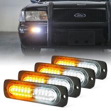 Xprite Led Strobe Lights Kit Side Marker Car Truck Emergency Warning Whiteamber