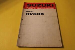 OEM SUZUKI RV50K PARTS CATALOGUE PART# 99000-91750