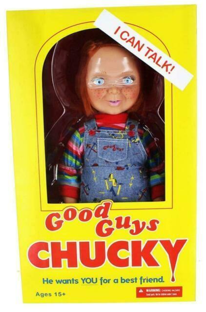 "Mezco Toyz Child/'s Play Talking GOOD GUYS chucky 15/"" Action Figure Doll 78004"
