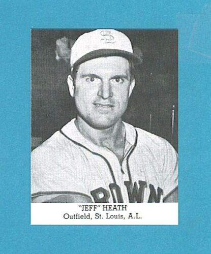 St. Louis Browns 1947 Tip Top Bread Reprint Single Jeff Heath