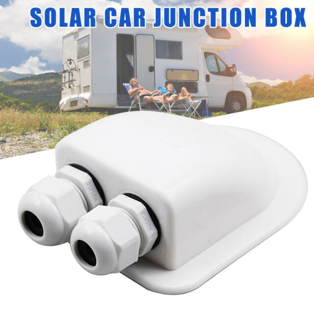Roof Gland 2 Cable Entry for Solar Satellite Aerial Motorhome Caravan Boat Kit