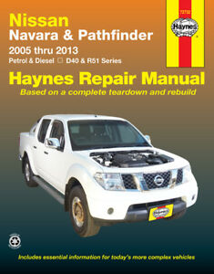 nissan navara pathfinder haynes manual workshop manual repair manual rh ebay co uk Workshop Manuals for Cars Workshop Manual 1996 Mercury Cougar