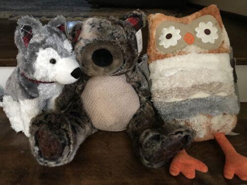 "Pier 1 Plush Stuffed Animal Brown Bear NWT Named ""Carter"""