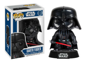 Funko-Pop-Star-Wars-Series-1-Darth-Vader-Vinyl-Bobble-Head-Item-2300