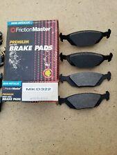 Disc Brake Pad-Premium Brake Pad Rear Friction Master MKD406