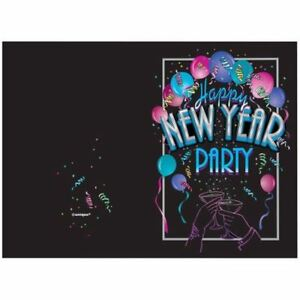 image is loading new years eve cheer party invitations with envelopes