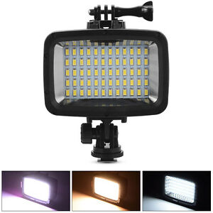 Image is loading 40m-60-LED-Waterproof-Diving-Video-Light-Lighting-  sc 1 st  eBay & 40m 60 LED Waterproof Diving Video Light Lighting Lamp for GoPro ... azcodes.com