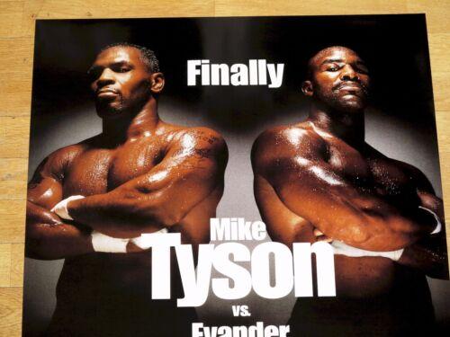 MIKE TYSON vs EVANDER HOLYFIELD ORIGINAL FIGHT POSTER 1996 VINTAGE RARE