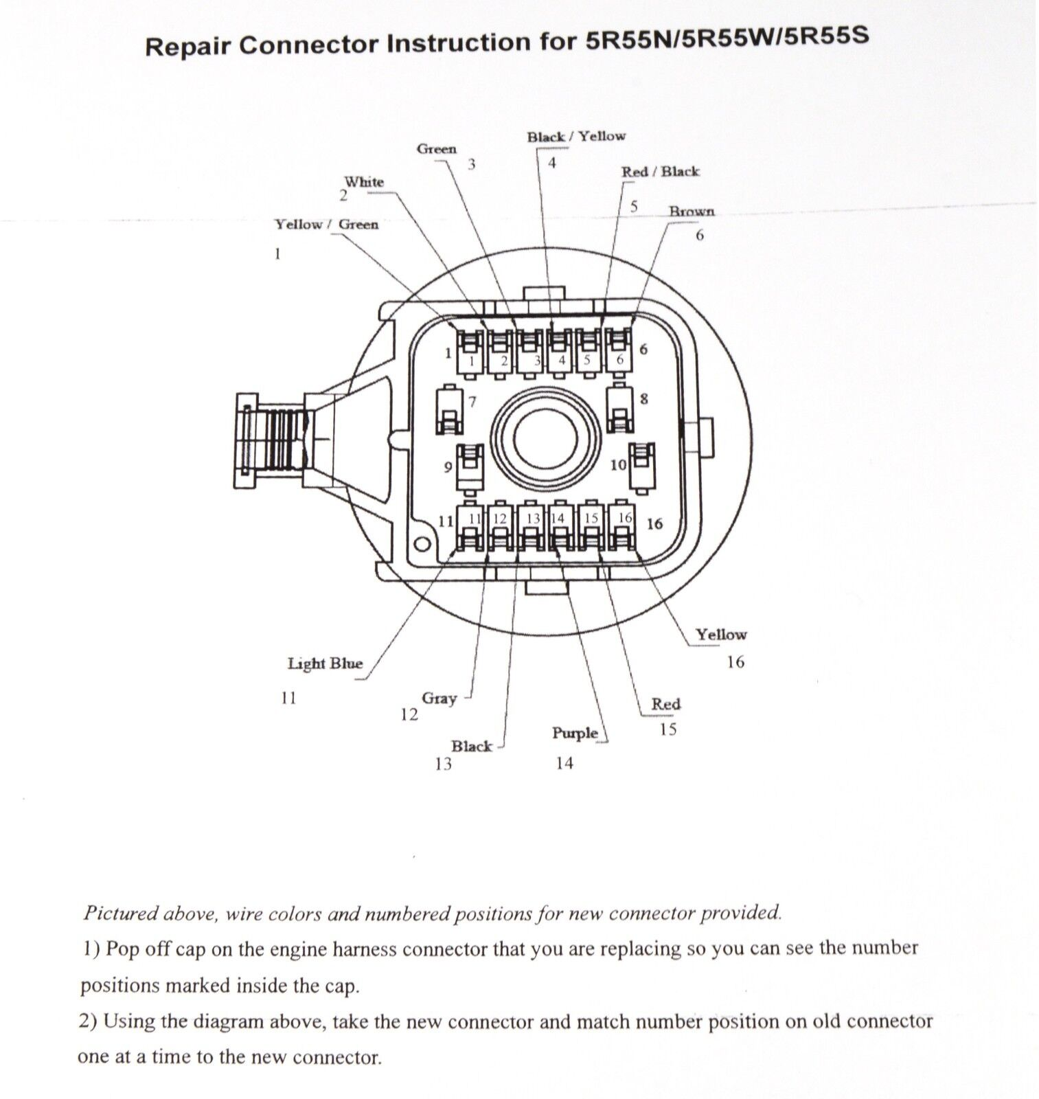 5R55S Transmission Wiring Harness Diagram from i.ebayimg.com