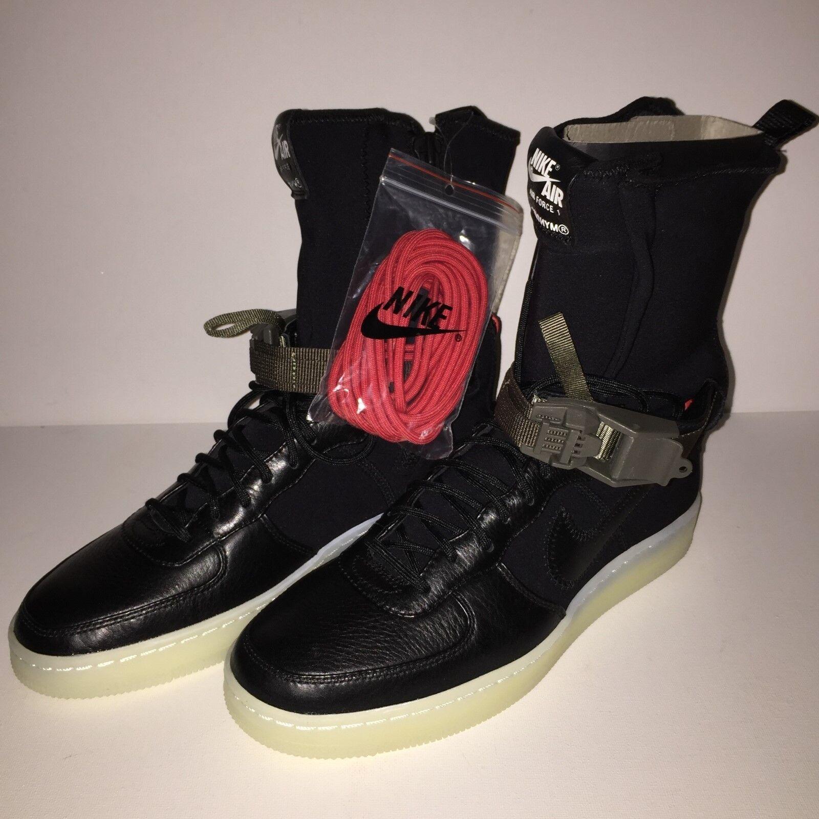 NikeLab x Acronym AF1 Downtown Hi SP-Size UK 6.5 - Black Red (649941-006)