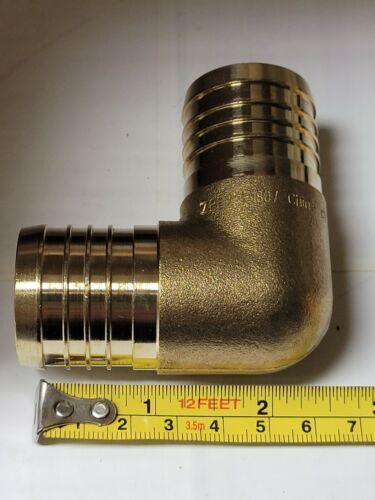 """1-1//2/"""" Zurn PEX Barbed 90° Elbow Low Lead Brass 160 PSI Max 33-200°F QQE77GX"""