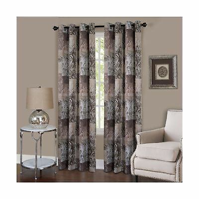 "50/"" x 8... Achim Home Furnishings VGPN84BR06 Vogue Grommet Window Curtain Panel"