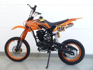 250ccm Dirt Bike Dirtbike Cross Pitbike 250cc RV-Racing Enduro E-Starter Orange