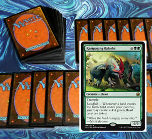 mtg-GREEN-LANDFALL-EXPLORE-DECK-Magic-the-Gathering-rares-wayward-swordtooth