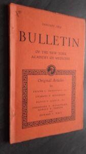 Notiziario Of I York Academy Of Medicina Gennaio 1950 ABE