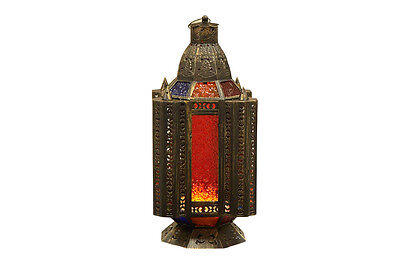 AUTHENTIC MOROCCAN LANTERN STAIN GLASS WINDOWS LARGE FREE DELIVERY