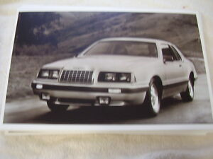 1984 ford thunderbird turbo coupe 11 x 17 photo picture ebay ebay