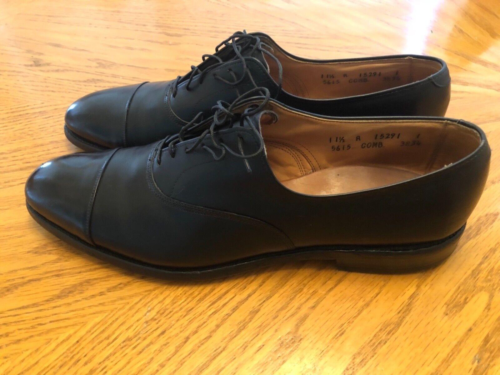 Allen Edmonds Park Avenue Derbies en cuir noir Captoe Taille 11.5 A