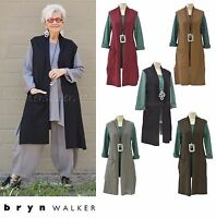 Pacificotton Bryn Walker Pacific Cotton Edmund Vest Long Top 1x 2x 3x Fall 2016