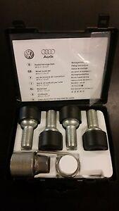 oem vw lockable wheel bolt set volkswagen wheel lock key set ebay