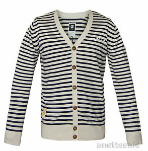 New Raw Pattern Beige front Button Bnwt Striped G Cardigan Aboard Navy star Mens TWORRYnSA