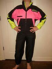 Vtg 80s Neon OBERMEYER Snow Suit Bib Womens XXS XS Ski 1 piece Snowsuit Youth 12