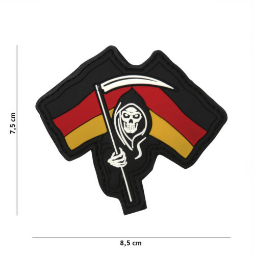 German Reaper Drapeau Patch Velcro Logo airsoft paintball Tactical UZI