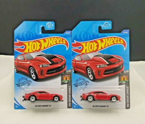 2020 Hot Wheels /'18 Copo Camaro SS #20 Red Dollar General Exclusive Set of 2