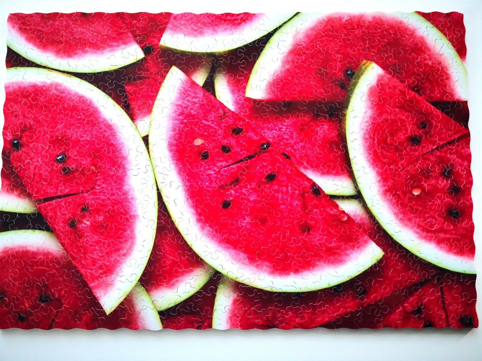 New Hand Cut Wooden Jigsaw Puzzle WATERMELON 440-500 pcs in Wooden Box