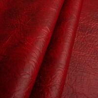 Kunstleder Meterware 1lfm Polsterstoff marmoriert Lederoptik Elefant Rot