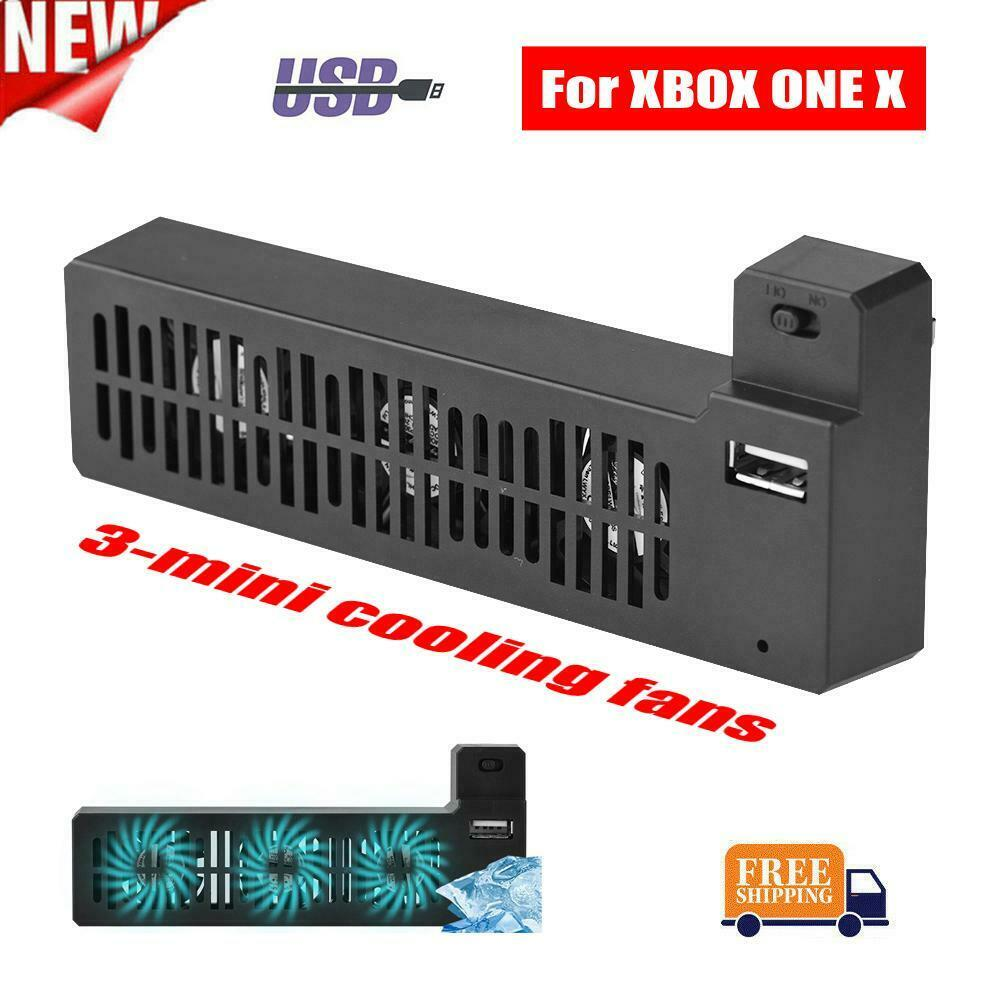 3-Fan Mini External Cooling Fan USB Cooler System for XBOX One X Game Console