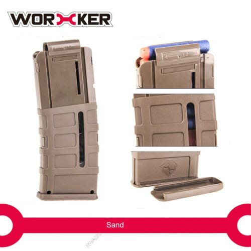 Worker Mod 12-Darts Magazine Quick Reload Clip for Nerf N-strike Elite Toy