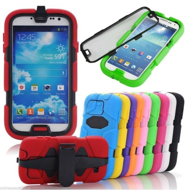 Samsung GalaxyS5 S7 Heavy Duty Shock Proof Tough Case Cover NO BELT CLIP