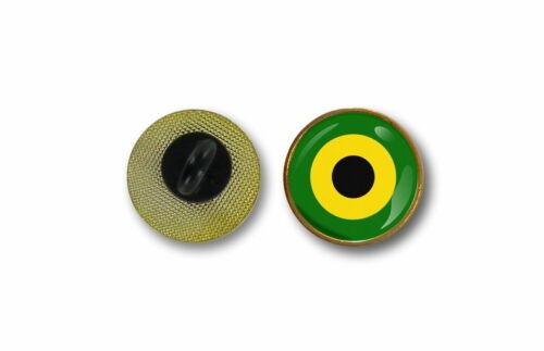 pins pin/'s flag rasta badge metal lapel hat button air force roundel jamaica