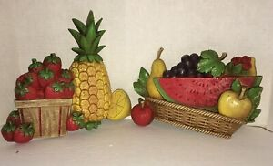 Vintage Homco Kitchen Wall Plaques 1975