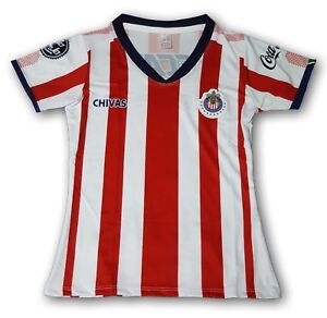 cheap for discount 499c5 5531a Details about Chivas del Guadalajara 2018 Women's Soccer Jersey 100%  Polyester Made in Mexico