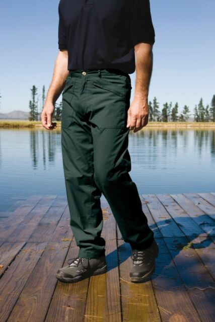 REGATTA MENS LINED ACTION II TROUSERS GREEN J172 WORKWEAR CASUAL HIKING WALKING