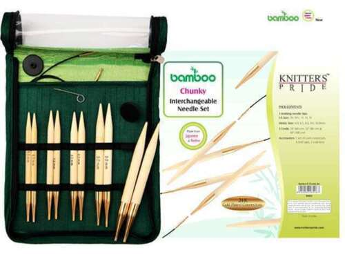 Knitter/'s Pride Brand New :Bamboo Chunky Interchangeable Needle Set: