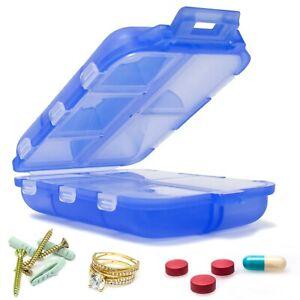 Miami-CarryOn-Travel-Pill-Box-Portable-10-Slot-Screw-Jewelry-Pill-Organizer