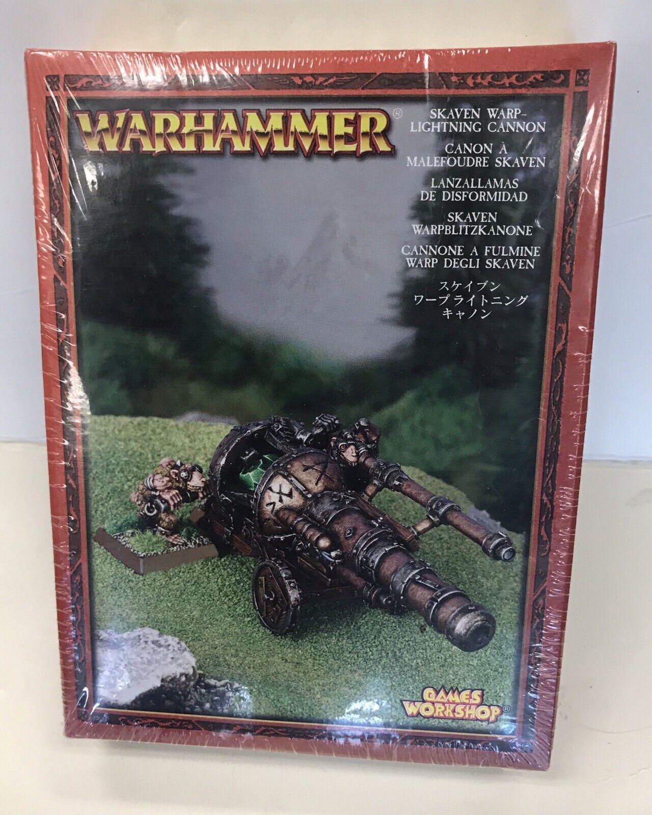 Warhammer Skaven AoS Clan Skryre Warp Lightning Cannon in shrink oop metal nib