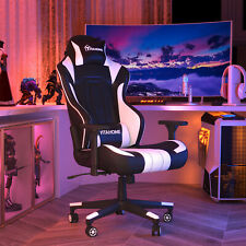 Yitahome Leather Gaming Chair High Back Recliner Office Desk Racing Swivel Seat