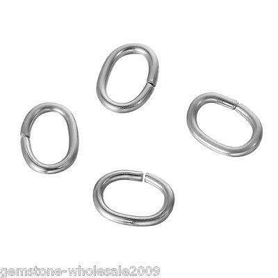 Wholesale Lots Silver Tone Stainless Steel Open Jump Rings 6mm x 0.7mm