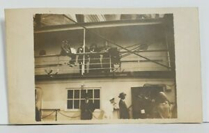 RPPC-Boarding-the-Ship-Early-1900s-Real-Photo-Postcard-N17