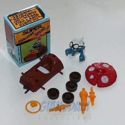 Capace Puffo Puffi Smurf Smurfs Schtroumpf 4.0232 40232 Log Car Fungo Box 5a