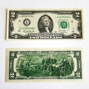 Five-5-2-Two-Dollar-Bill-New-Uncirculated-with-CONSECUTIVE-NUMBERS