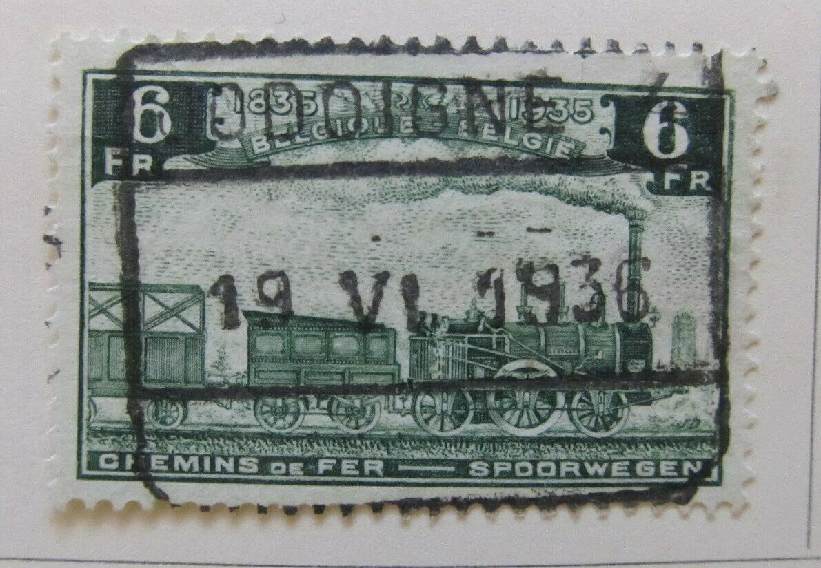 A6P18F153 Belgium Parcel Post and Railway Stamp 1935 6fr used