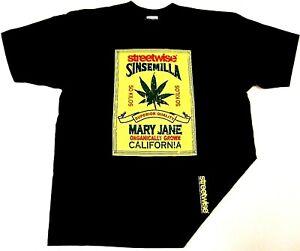 Streetwise Roll Up Marijuana Cannabis Short Sleeve Black T-shirt